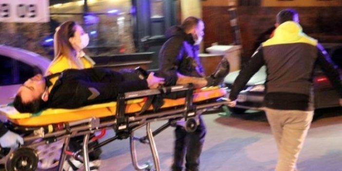 Restoranda silah ve palalı saldırı; 3 yaralı