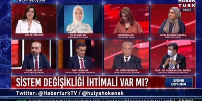 Canlı yayında FETÖ ve PKK kapışması. İsmail Saymaz Hilal Kaplan'a; Hilal Kaplan, İsmail ve Hülya Hökenek'e; Hülya Hökenek, Hilal Kaplan'a...