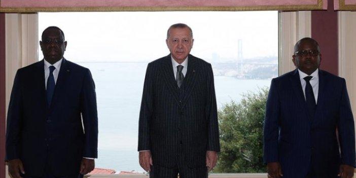 Cumhurbaşkanı Erdoğan Gine Bissau ve Senegal Cumhurbaşkanları ile görüştü