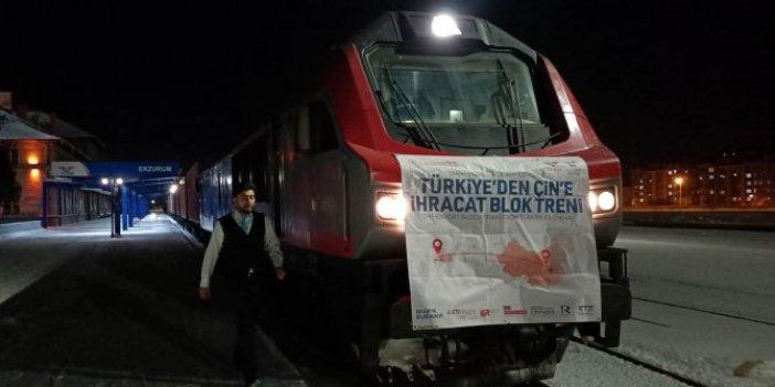 Çin'e yapılan bor ihracatında ilk tren Erzurum'a ulaştı