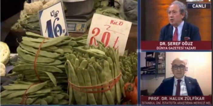 Ünlü ekonomist Şeref Oğuz canlı yayında açıkladı. Meyve- sebze fiyatlarının ardındaki yiyici ortaya çıktı