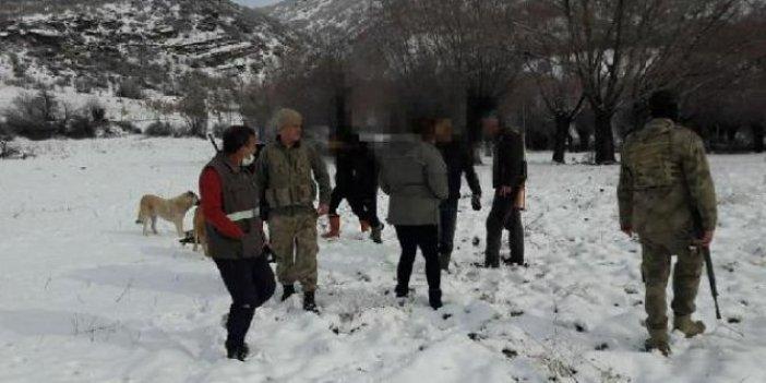 Tunceli'de domuz avcılarına havadan ceza yağdı