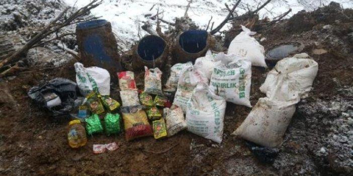Bitlis'te PKK'ya ait sığınaklar bulundu