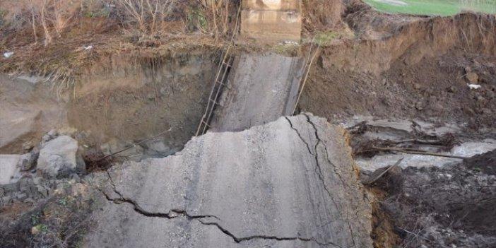 Tekirdağ'da şiddetli yağış Harmanlı Köprüsü'nü yıktı