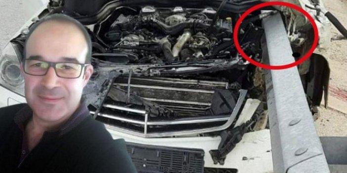 Konya'da bariyer otomobili delip profesöre ok saplandı