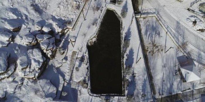 Erzurum'da tüm sular buz tuttu bir tek o göl donmadı. Profesörler inceleniyor