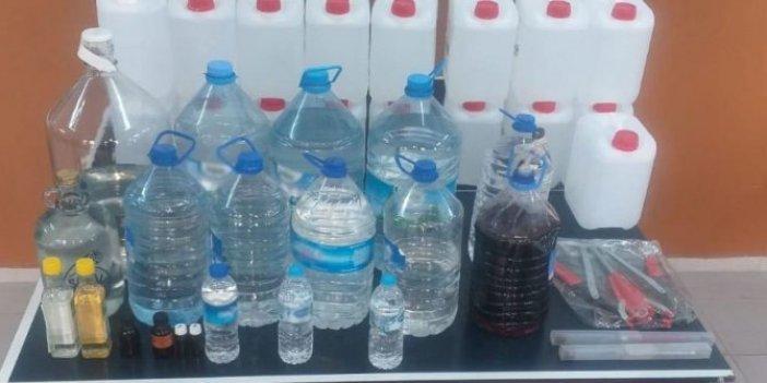 İzmir'de 268 litrelik sahte içki operasyonu