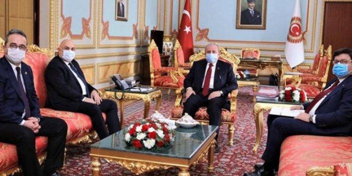 CHP heyeti TBMM Başkanı Mustafa Şentop ile görüştü