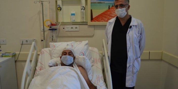 Baş dönmesiyle gitti ameliyata alındı. Doktorlar gördüklerine inanamadı