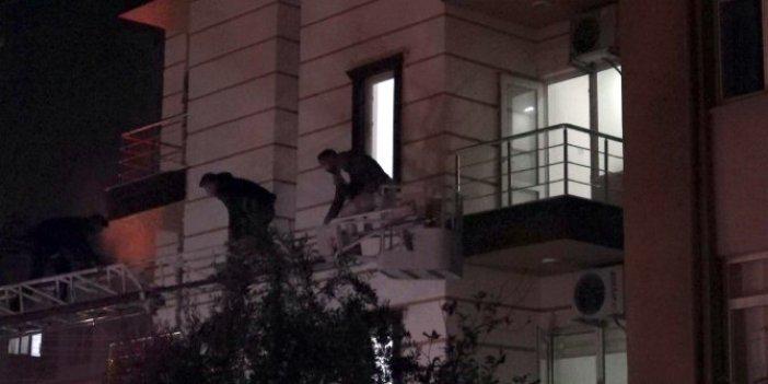 Antalya'da apart otelde yangın